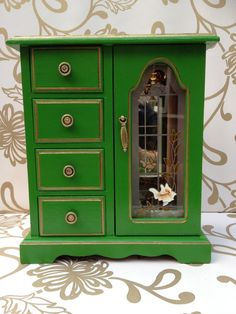 Small Lime Jewelry Cabinet