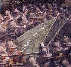"""♕ℛ. Firenze, Palazzo Vecchio, Vasari, dettaglio della battaglia di Marciano """"cerca trova"""""""