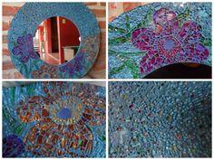 Humor Vítreo mosaico de vidrio reciclado. Hecho en Argentina