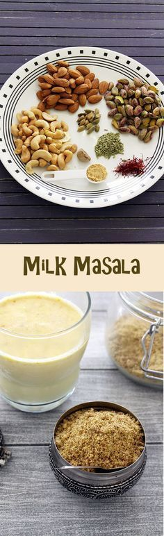 Milk masala powder recipe – This is added in a glass of milk along with sugar to make masala doodh or masala milk.