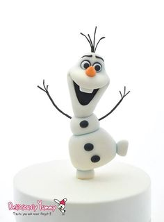 how to make disney olaf figurine cake topper tutorial step by step how to guide gumpaste. Black Bedroom Furniture Sets. Home Design Ideas