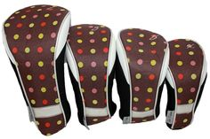 Taboo Fashions Ladies 4-Pack Set Golf Club Headcovers - Cocoa Eye Candy