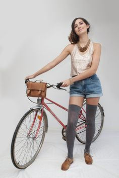 Eco Leather Mini Messenger  Bike Bag by UNAfashion