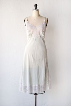 vintage 1940s slip | 40s lingerie slip dress | Celeste at Dawn Slip