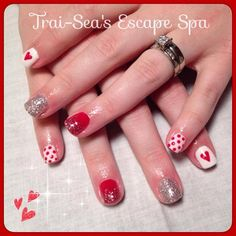 Red and White by TraiSeasEscape from Nail Art Gallery