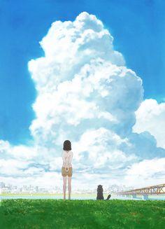 Crunchyroll nimmt Makoto Shinkais Anime Kanojo to Kanojo no Neko (She and her Cat) in sein Simulcast Programm auf Neko, She And Her Cat, Cute Anime Girl Wallpaper, Time Skip, Kimi No Na Wa, Online Anime, Great Films, Anime Scenery, Theme Song
