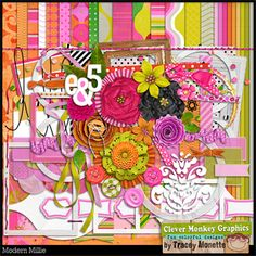 Modern Millie by Clever Monkey Graphics - Digital scrapbooking kits available through Oscraps, GingerScraps, or MyMemories