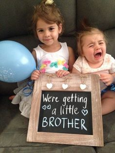 I wish someone would of done this for Me and Melody when we found out about having a little brother!