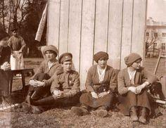 Anastasia and siblings. Arrested in Tsarskoye Selo