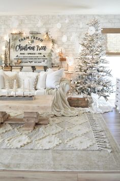 Farmhouse Christmas Decorations - Paper Tree with Star on Sophora Wood Base Christmas Spheres, Christmas House Lights, Christmas Fireplace, Christmas Bedroom, Christmas Ornaments, White Ornaments, Christmas Wreaths, Christmas Tree Base, Living Room For Christmas