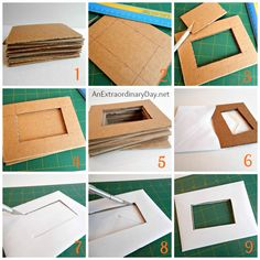 How to Make a Faux Love Letters Box,How to Make a Faux Love Letter Box Tutorial :: AnExtraordinaryDa. :: Contemporary Decorations with Frame Types. Diy Photo Frame Cardboard, Cardboard Frames, Cardboard Box Crafts, Paper Frames, Paper Photo Frame Diy, Diy Karton, Diy Cardboard Furniture, Picture Frame Crafts, Diy Party Decorations