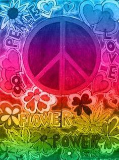 peace, love, flower power