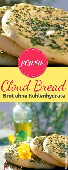 Cloud Bread ist ein No-Carb Brot ohne Kohlenhydrat, dafür mit viel Eiweiß! Wir… Cloud Bread is a no-carb bread without carbohydrate, but with plenty of protein! We have the recipe for you! Low Carb Keto, Low Carb Recipes, Healthy Recipes, Bread Recipes, Cake Recipes, Pan Nube, No Carb Bread, Bread Pizza, Law Carb