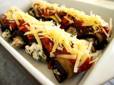 petite kitchen: caramelized onion and feta stuffed eggplant involtini Healthy Recipes On A Budget, Clean Eating Recipes, Vegetarian Recipes, Healthy Eating, Paleo Food, Budget Meals, Delicious Recipes, Tasty, Kitchen Recipes