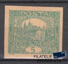 ČSR I známky 4 Zt - Makulaturní papír - II. typ