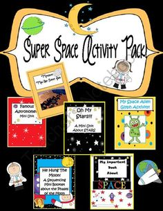 Super Space Activity Pack! 60 pages from EngagingLessons on TeachersNotebook.com -  (60 pages)  - This Space activity Bundle is AWESOME!  It includes 5 activity Books And a Space Alien Glyph Art Activity!!!  Lots of Creative and engaging activities to help supplement and reinforce your Space Unit!  •Oh My Stars: A mini Activity book about Stars •Famou