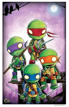 New TMNT piece for SDCC (11x17 watercolor on paper)