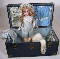 Antique Simon Halbig K*R German Bisque Head Doll Factory Original Presentation Set FAO Schwartz Provenance!