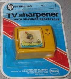 Remember this? It's a TV pencil sharpener!! ❤ Please visit my Facebook page at: www.facebook.com/jolly.ollie.77