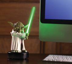 Trying to keep people away from your cubicle is now fully automated with #Yoda #USB Desk Protector.