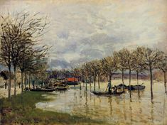 The Flood on the Road to Saint Germain, 1876. By Alfred Sisley.