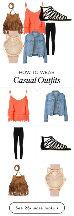 """Casual"" by samsaro on Polyvore featuring Frame Denim, Glamorous and Jimmy Choo"