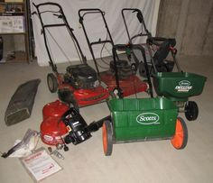 """Lawn equipment including Craftsman 20"""" electric snow blower; Murray 20 gasoline powered lawn mower."""