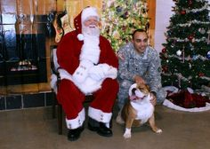 Santa heard the requests of EVERYONE, including those with four legs. (Photo by Jennifer Archdekin/Missouri National Guard)