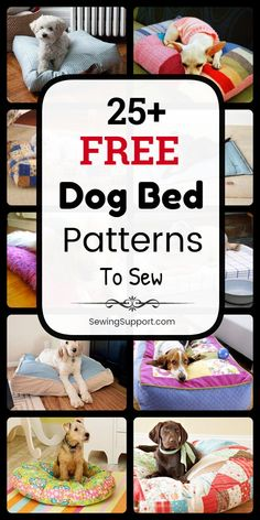 Dog Bed Diy: Free Dog Bed Patterns DIY Dog Bed Projects: Over 25 free sewing patterns & tutorials for dog beds and dog pillows. Many simple and easy designs. Instructions for how to make your own homemade dog bed. Cute Dog Beds, Diy Dog Bed, Dog Pillow Bed, Diy Bed, Dog Pillows, Homemade Dog Bed, Diy Tumblr, Diy Vanity, Sewing Hacks
