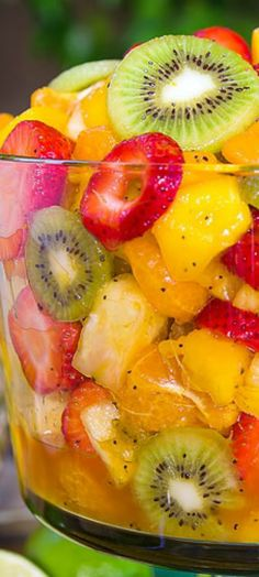 BEST EVER TROPICAL FRUIT SALAD from The Slow Roasted Italian is #22 on our list of The Best Fruit Salad Recipes || Featured on The Best Blog Recipes with the original bloggers permissions