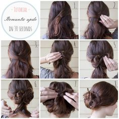 Tutorial: easy and express updo for medium length hair « Fashion ...