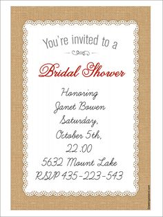 22 Free Bridal Shower Printable Invitations | visit www.freetemplateideas.com