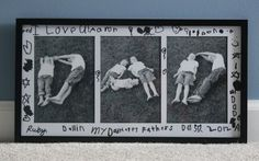 Father's Day Framed Photoshoot: Have some alphabetical fun with your toddlers in the garden (if it's dry).