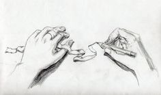 pencil study-ribbon and hands by thepalefire.deviantart.com on @deviantART