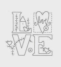 In love - Redwork