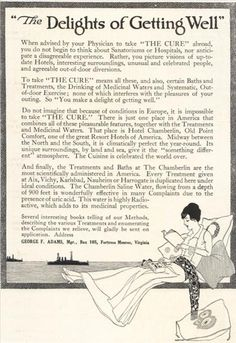 """""""This water is highly Radioactive, which adds to its medicinal properties."""" - 22 Odd Ads From National Geographic Magazine in the 1910s 