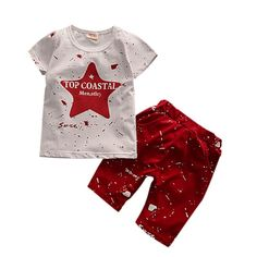 5.05$  Buy now - http://alihig.shopchina.info/go.php?t=32806113728 - Summer Boys Clothes Kids Short Sleeve  Star Letter Style Clothing Set Toddler Boys T-Shirts+Children Shorts Tops & Pants  #shopstyle