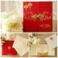 Vinas invitation. Oriental invitation. Chinese theme. Wedding invitation. Indonesia wedding. Sydney wedding. Wedding stationary. Any question please visit us at website www.vinasinvitation.com  courtesy of Evelyn & Rony . Engagement invitation
