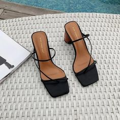 Find New Look's stylish number of females' heeled sandals, along with block high heel shoes, strappy shoes and method patterns. Womens Summer Shoes, Womens High Heels, Strappy Shoes, Shoes Heels, Heeled Sandals, Shoes Sneakers, Heel Boots, Sandals With Heels, Shoes High Heels