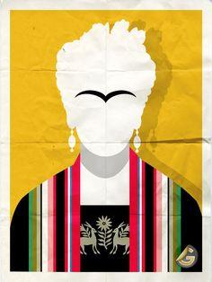 Minimalist Frida Kahlo
