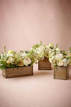 product | Wooden Box Planters from BHLDN