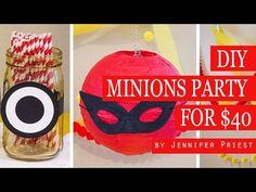 Minions Birthday Party Ideas! $40 Minion Party #DariceHOA #CraftyHOA - YouTube