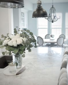 100 Interior Design Ideas - BEYOND STUNNING!! - LOVE THIS KITCHEN WITH THE HUGE MARBLE BENCH TOP!! - AWESOME!!