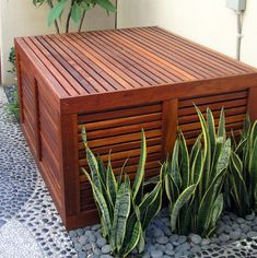 cover the ac unit outside A Tropical Modern Sideyard - contemporary - landscape - los angeles - Studio H Landscape Architecture