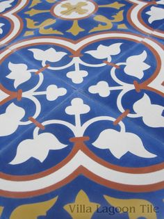 """Roseton """"Sebring"""" Cement Tile--Villa Lagoon Tile in Stock for our kitchen backsplash"""