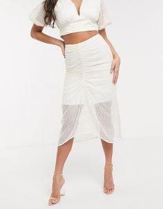 Significant Other Malia Broderie Midi Skirt-cream Mini Skater Dress, Mini Shirt Dress, Asos, Midi Sundress, Midi Skirt, World Of Fashion, Fashion Online, Beach Playsuit, Significant Other