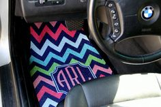 Personalized Car Mats MultiColor Monogrammed Car by ChicMonogram