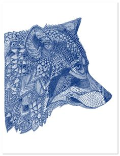 By the talented British graphic designer and illustrator Claire Scully. All her artwork is made up of tiny geometric patterns, and I couldn't go past this stunning wolf. Illustrations, Illustration Art, Tatto Ink, Wolf Tattoos, Animal Drawings, Oeuvre D'art, Amazing Art, Awesome, Painting & Drawing
