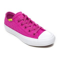 828bcfc07539 Converse Women s Chuck Taylor All Star II Ox Trainers - Magenta Glow White   Image 2