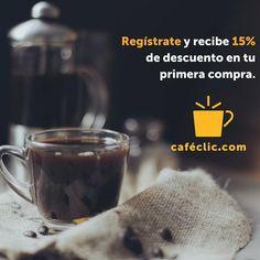 Regístrate en www.cafeclic.com y recibe 15% de descuento en tu primera compra. Disfruta del buen café :) #café #coffeelovers #cafeespecial #cafecolombiano #Colombia #coffee